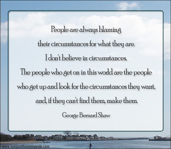 People are always blaming...