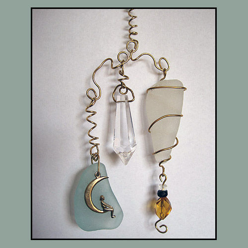 Sea Glass And Crystal Chandelier Prism Eye-Catcher