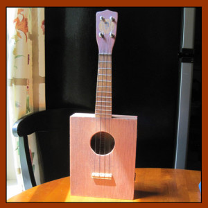 Made by Roy Cox from vintage ukulele parts.